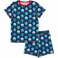 Maxomorra Deep Sea Shortie Pyjamas