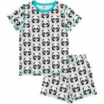 Maxomorra Panda Shortie Pyjamas