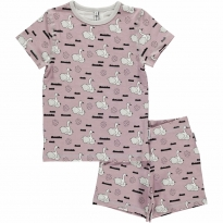 Maxomorra Swan Baby Pond Shortie Pyjamas