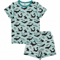 Maxomorra Whale Ocean Shortie Pyjamas
