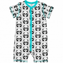 Maxomorra Panda Shortie Romper