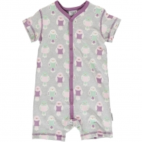 Maxomorra Budgie SS Button Romper
