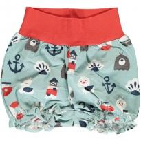 Maxomorra Blue Ocean Rib Shorts