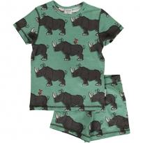 Maxomorra Rhino SS Pyjama Set