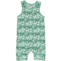 Maxomorra Jungle Landscape Short Dungarees