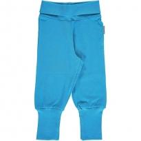 Maxomorra Soft Petrol Rib Pants