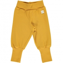 Maxomorra Solid Ochre Rib Pants