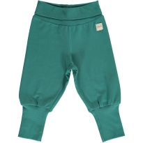 Maxomorra Solid Teal Rib Pants