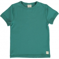 Maxomorra Solid Teal SS Top