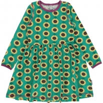 Maxomorra Long Sleeve Sunflower Spin Dress
