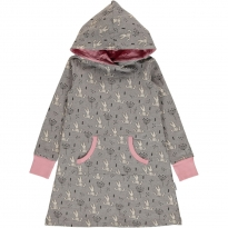 Maxomorra Sweet Bunny Hoodie Dress