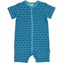 Maxomorra Tractor SS Button Romper