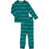 Maxomorra Long Sleeve Turquoise Landscape Pyjama Set