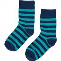 Maxomorra Turquoise Stripe Socks 2 Pack