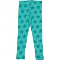 Maxomorra Turquoise Stars Leggings