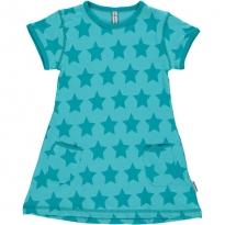 Maxomorra Turquoise Stars SS Dress