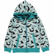 Maxomorra Whale Ocean Zip Hoody