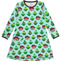 Maxomorra Forest LS Dress