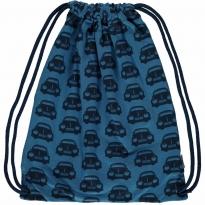 Maxomorra Blue Cars Gym Bag