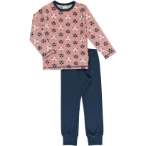 Maxomorra Blueberry Blossom LS Pyjamas