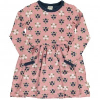 Maxomorra Blueberry Blossom LS Spin Dress
