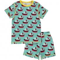 Maxomorra Boat Shortie Pyjamas