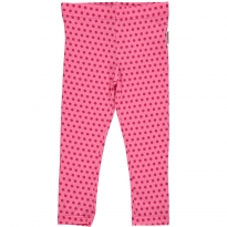 Maxomorra Cerise Dots Cropped Leggings