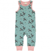Maxomorra Dashing Reindeer Dungarees