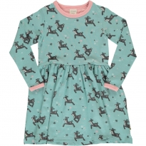 Maxomorra Dashing Reindeer LS Spin Dress