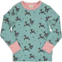 Maxomorra Dashing Reindeer LS Top