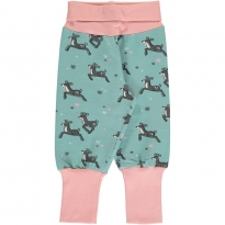 Maxomorra Dashing Reindeer Rib Pants