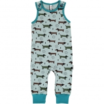 Maxomorra Dotted Puppy Dungarees