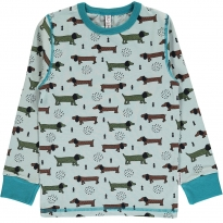 Maxomorra Dotted Puppy LS Top