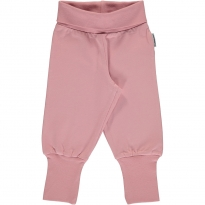 Maxomorra Dusty Pink Rib Pants