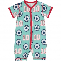 Maxomorra Football Shortie Romper