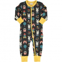Maxomorra Fun Park LS Zip Rompersuit