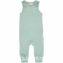 Maxomorra Icy Blue Velour Dungarees