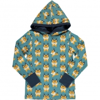Maxomorra Lively Lynx LS Hooded Top