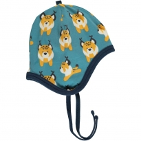 Maxomorra Lively Lynx Velour Helmet Hat