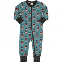 Maxomorra Moon Rocket LS Zip Rompersuit