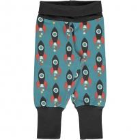 Maxomorra Moon Rocket Rib Pants