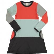 Maxomorra Multi Fun Block LS Dress