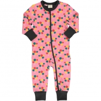 Maxomorra Party Balloon LS Zip Rompersuit