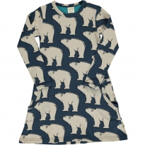 Maxomorra Polar Bear LS Dress