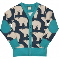 Maxomorra Polar Bear V Sweat Cardigan