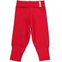 Maxomorra Red Rib Pants