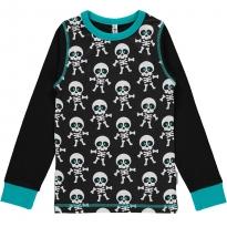 Maxomorra Skeleton & Black Sleeves Top