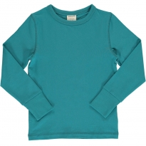 Maxomorra Solid Arctic Blue LS Top