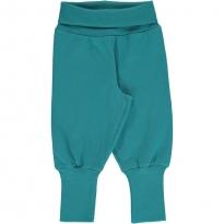 Maxomorra Solid Arctic Blue Rib Pants