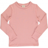 Maxomorra Solid Dusty Rose LS Top